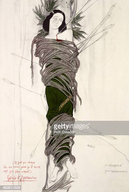 Costume design for the the ballet dancer Ida Rubinstein 1911 Design for the performance of Debussy's Le Martyre de St Sébastien at Paris's Châtelet...