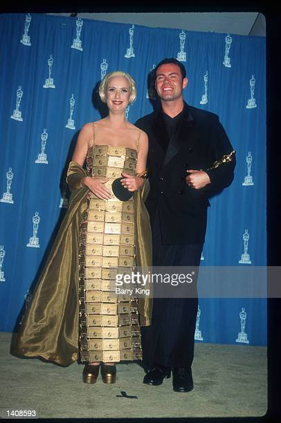 Costume Design winners Lizzy Gardiner and Tim Chappel attend the 67th Annual Academy Awards ceremony March 27 1995 in Los Angeles CA This year''s...