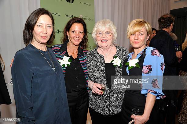 Costume designer Adelle Lutz producer Gabrielle Tana actress June Squibb and producer Tracey Seaward attend the Women In Film PreOscar Cocktail Party...