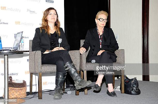 Costume Designer Alex Kavanagh and Costume Desinger Delphine White speak at From Stitch To Screen Contemporary Canadian Costume Design at Filmmaker's...