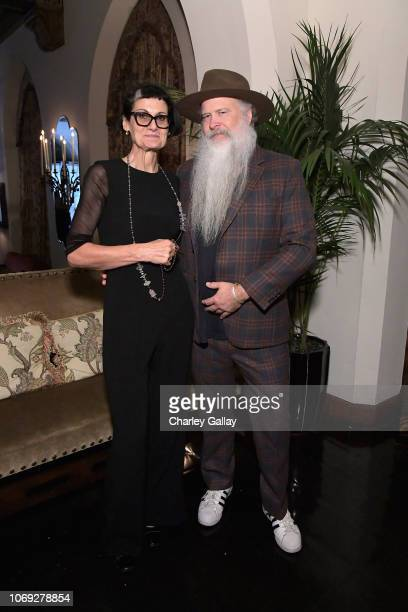 Costume designer Alexandra Byrne and Focus Features Senior Vice President of Creative Advertising Blair Green celebrate the new film Mary Queen of...