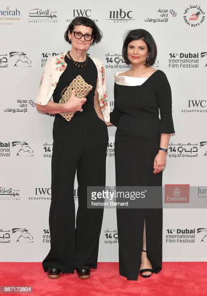 Costume designer Alexandra Byrne and Managing Director of DIFF Shivani Pandya attend the Opening Night Gala of the 14th annual Dubai International...