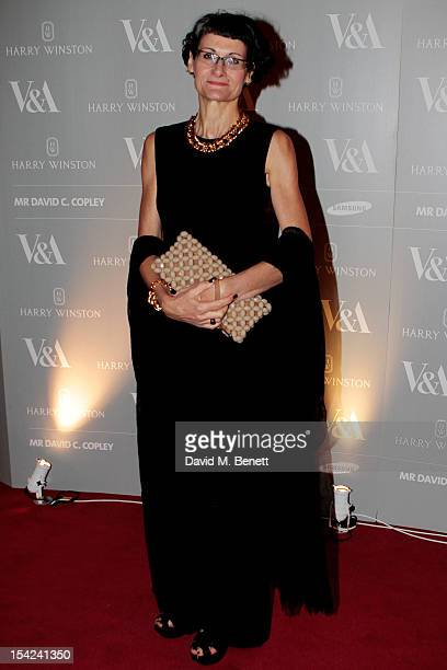 Costume designer Alexandra Byrne arrives at the launch dinner for the new Hollywood Costume exhibition at the VA Museum on October 16 2012 in London...
