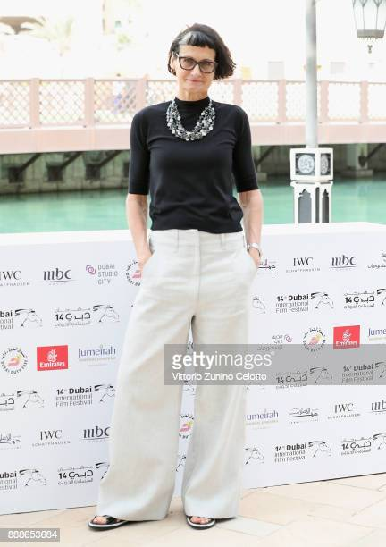 Costume designer Alexandra Byrne attends a photocall on day four of the 14th annual Dubai International Film Festival held at the Madinat Jumeriah...