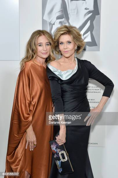 Costume designer Allyson B Fanger and presenter Jane fonda attend The 19th CDGA with Presenting Sponsor LACOSTE at The Beverly Hilton Hotel on...