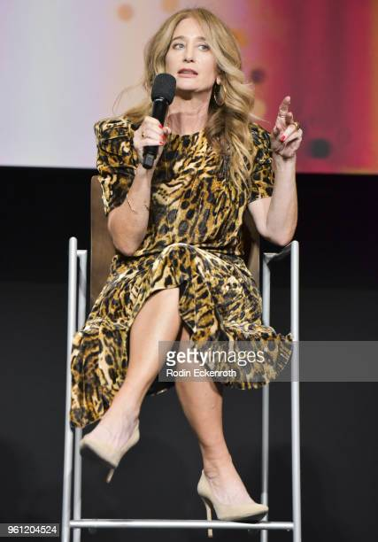 Costume designer Allyson Fanger speaks onstage at the Women in Entertainment and The Television Academy Foundation's Inaugural Women in Television...