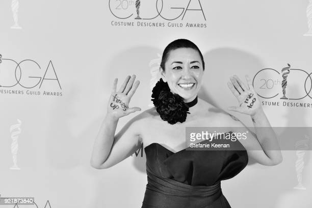Costume designer Ane Crabtree winner of the Excellence in Contemporary Television award for 'The Handmaid's Tale' attends the Costume Designers Guild...