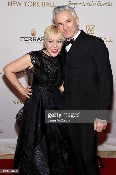 Costume designer Catherine Martin and Director Baz Luhrmann attend The New York Ball The 20th Anniversary Benefit for The European School Of...