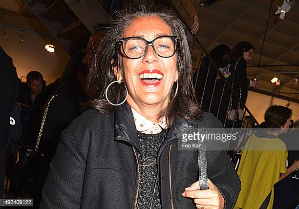 Costume designer Chattoune attends the 'Vide Et Plein' Studio Bleu Artists Paintings Preview At Espaces Commines on October 19 2015 in Paris France