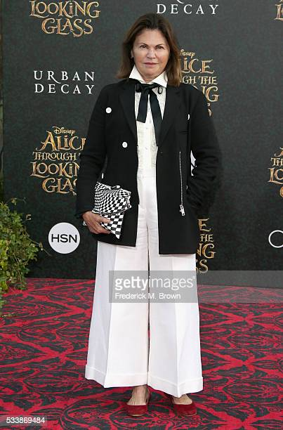 Costume designer Colleen Atwood attends the premiere of Disney's Alice Through The Looking Glass at the El Capitan Theatre on May 23 2016 in...