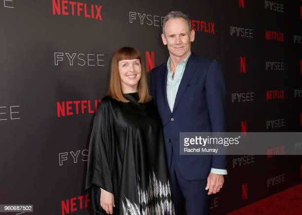 Costume designer Cynthia Summers and Director/production designer Bo Welch attend the Time Warp Crafts Panel at Netflix FYSEE on May 20 2018 in Los...