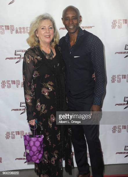 Costume designer Deborah Hartwell and actor Brian Keith Gamble arrive for the Cast And Crew Screening Of 5th Passenger held at TCL Chinese 6 Theatres...