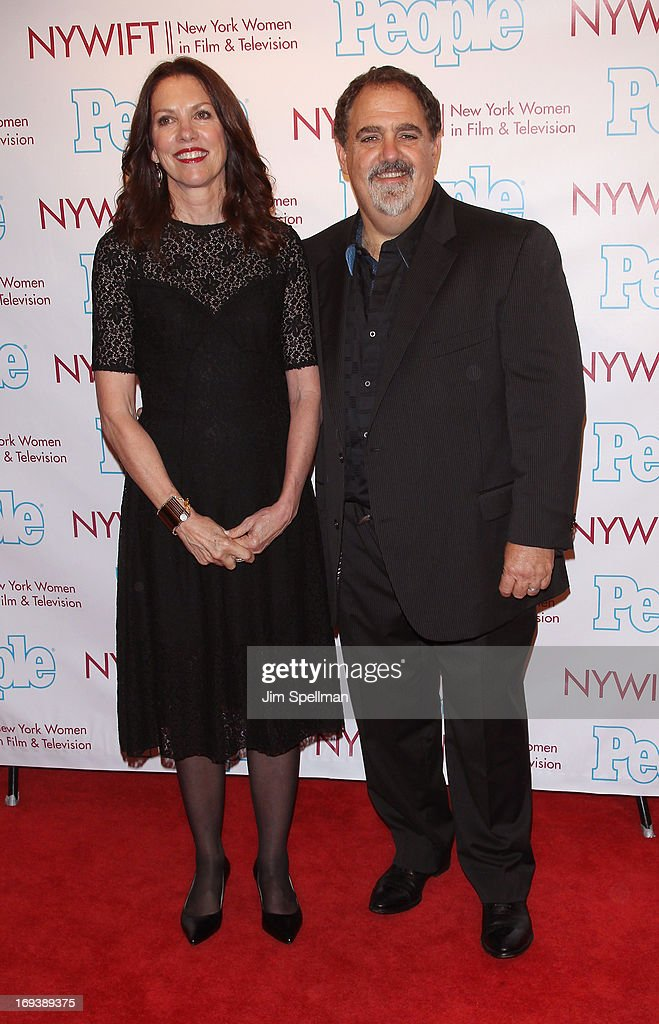 Costume Designer Deborah Scott and film producer Jon Landau attend 2013 NYWIFT Designing Women Awards at The McGraw-Hill Building on May 23, 2013 in New York City.
