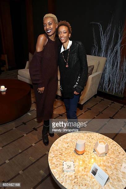 Costume designer Derica Cole Washington and Justice Singleton attend Google Home x Sundance x Wanderluxxe celebrate diversity at the home of Barry...