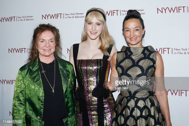 Costume designer Donna Zakowska, actor Rachel Brosnahan and makeup artist Patricia Regan attend the New York Women in Film and Television's...