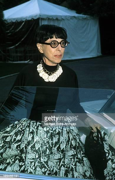 Costume designer Edith Head poses for a portrait in circa 1970