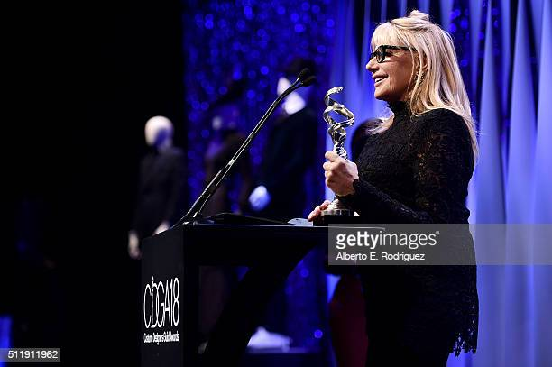 Costume designer Ellen Mirojnick accepts the Career Achievement Award onstage during the 18th Costume Designers Guild Awards with Presenting Sponsor...