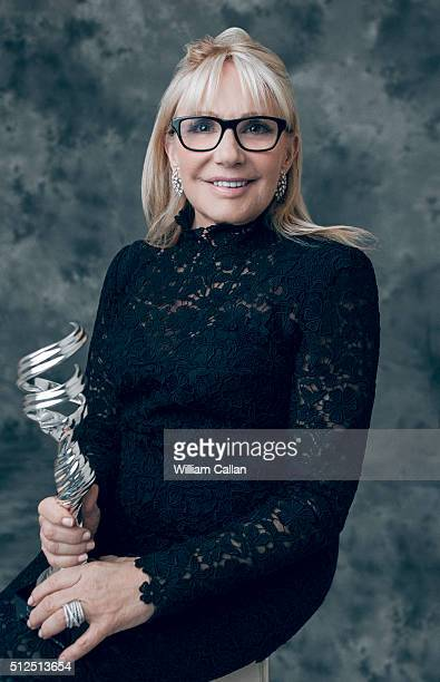 Costume designer Ellen Mirojnick poses for a portrait at the 18th Costume Designers Guild Awards at The Beverly Hilton Hotel on February 23 2016 in...