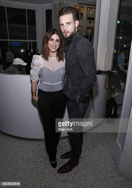 Costume Designer Jacqueline Demeterio and Actor Nico Tortorella attend as Macy's celebrates the 50th Anniversary of the Mayor's Office Of Media And...