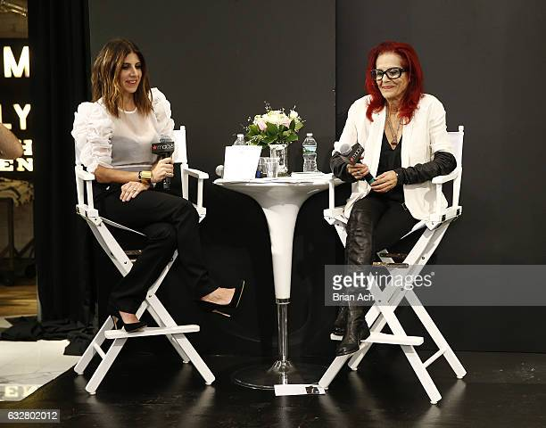 Costume designer Jacqueline Demeterio and fashion designer Patricia Field speak on stage as Macy's celebrates the 50th Anniversary of the Mayor's...