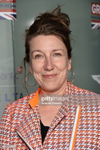 Costume designer Jacqueline Durran arrives at the GREAT British Film Reception at The London West Hollywood on February 20 2015 in West Hollywood...
