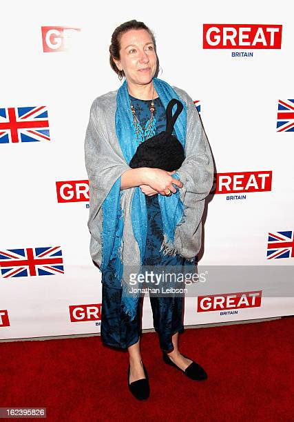 Costume Designer Jacqueline Durran attends the GREAT British Film Reception at British Consul General's Residence on February 22 2013 in Los Angeles...