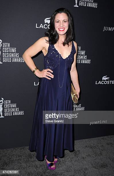 Costume designer Jacqueline Mazarella attends the 16th Costume Designers Guild Awards with presenting sponsor Lacoste at The Beverly Hilton Hotel on...
