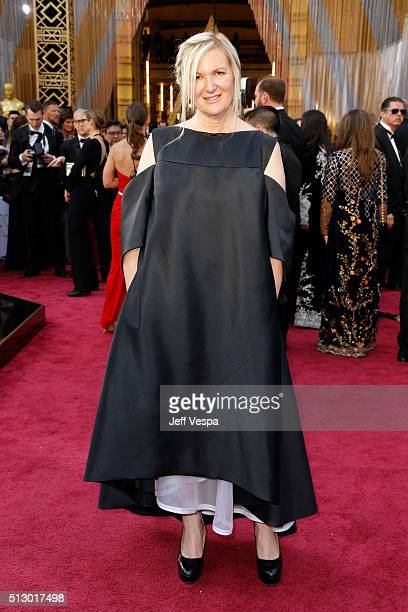 Costume designer Jacqueline West attends the 88th Annual Academy Awards at Hollywood & Highland Center on February 28, 2016 in Hollywood, California.
