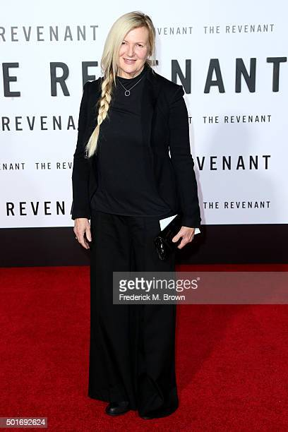 Costume designer Jacqueline West attends the premiere of 20th Century Fox and Regency Enterprises' The Revenant at the TCL Chinese Theatre on...