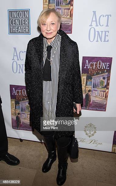 Costume Designer Jane Greenwood attends the opening night party for Act One at The Plaza Hotel on April 17 2014 in New York City
