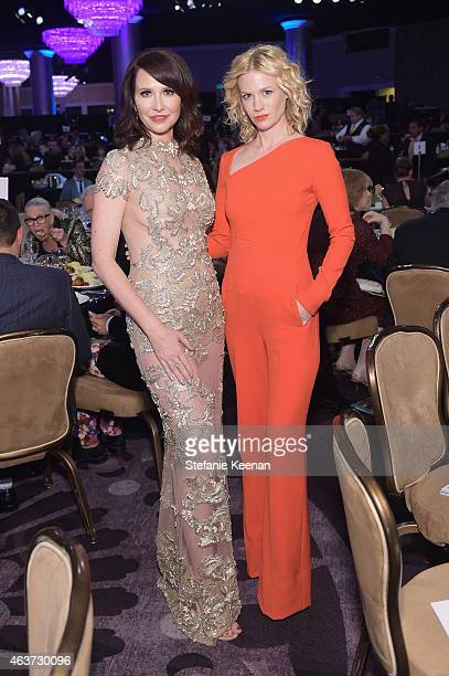 Costume designer Janie Bryant and January Jones attend the 17th Costume Designers Guild Awards with presenting sponsor Lacoste at The Beverly Hilton...