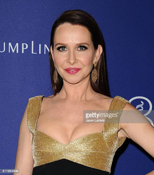 Costume designer Janie Bryant attends the 18th Costume Designers Guild Awards at The Beverly Hilton Hotel on February 23 2016 in Beverly Hills...
