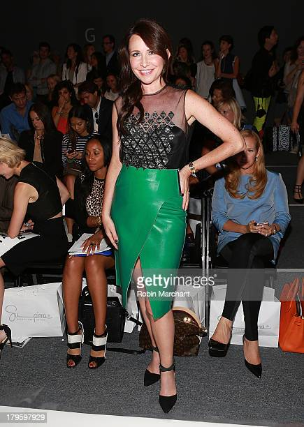 Costume Designer Janie Bryant attends the Supima show during Spring 2014 MercedesBenz Fashion Week at The Studio at Lincoln Center on September 5...