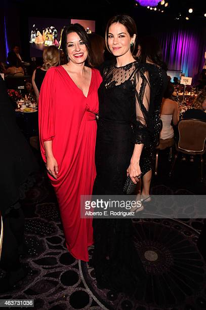 Costume designer Jenny Eagan and actress Michelle Monaghan attend the 17th Costume Designers Guild Awards with presenting sponsor Lacoste at The...