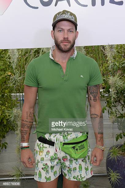 Costume designer Johnny Wujek attends the Official HM Loves Coachella Party at the Parker Palm Springs on April 10 2015 in Palm Springs California