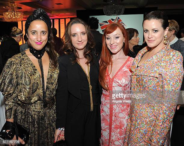 Costume designer Julia Clancey Jane Owen actresses Ruth Connell and Clementine Heath attend BritWeek's 10th Anniversary VIP Reception Gala at...