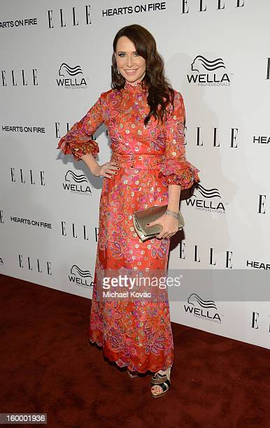 Costume Designer Katherine Jane Bryant attends the ELLE's Women in Television Celebration at Soho House on January 24 2013 in West Hollywood...