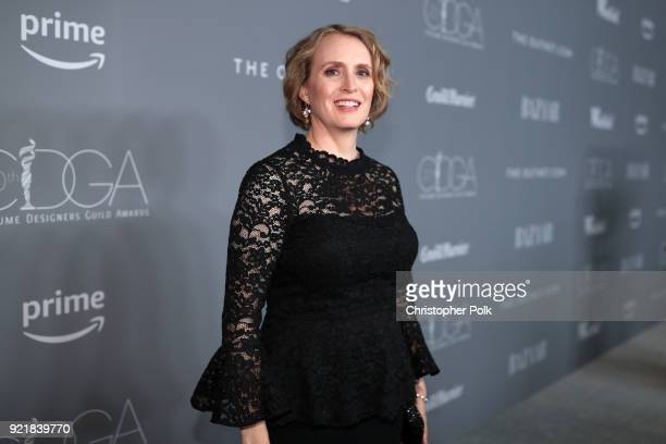 Costume designer Kim Wilcox attends the Costume Designers Guild Awards at The Beverly Hilton Hotel on February 20 2018 in Beverly Hills California