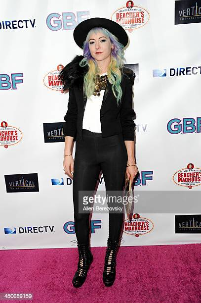 Costume designer Kit Scarbo arrives at the Los Angeles premiere of 'GBF' at Chinese 6 Theater in Hollywood on November 19 2013 in Hollywood California
