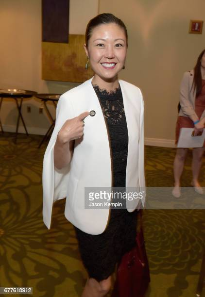 Costume designer Linda Cho attends the 2017 Tony Awards Meet The Nominees Press Junket at the Sofitel New York on May 3 2017 in New York City