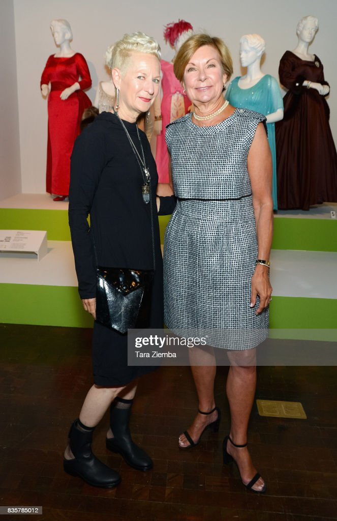 Costume designer Lou Eyrich and VP of Education at FIDM, Barbara Bundy attend the media preview of the 11th annual 'Art Of Television Costume Design' exhibition at FIDM Museum & Galleries on the Park on August 19, 2017 in Los Angeles, California.