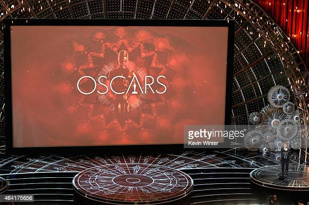 Costume designer Milena Canonero accepts the Costume Design Award for The Grand Budapest Hotel onstage during the 87th Annual Academy Awards at Dolby...