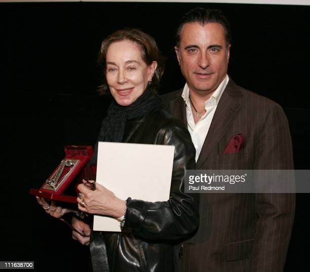 Costume Designer Milena Canonero presentd award by actor Andy Garcia at Cinema Italian Style Awards on October 10 2007 at American Cinemateque's...