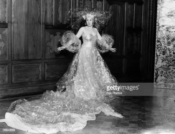 Costume designer Mrs AG McCorquodale dressed for the Santa Klaus Ball.