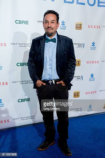 Costume Designer Ricardo Soltero arrives for the Metropolitan Fashion Week 2016 La Vie En Bleu a Signature Event Benefiting Autism Speaks at Warner...