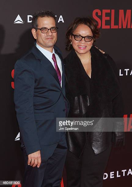 Costume Designer Ruth E Carter and guest attend the Selma New York Premiere at the Ziegfeld Theater on December 14 2014 in New York City
