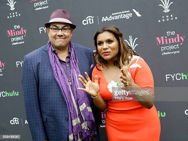 Costume designer Salvador Perez and actress Mindy Kaling attend 'The Mindy Project' Style presented by Citi/AAdvantage at The Grove on June 11 2016...