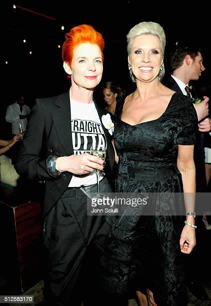 Costume designer Sandy Powell and Global President MAC Cosmetics Karen Buglisi Weiler at the 9th Annual Women in Film PreOscar Cocktail Party in...