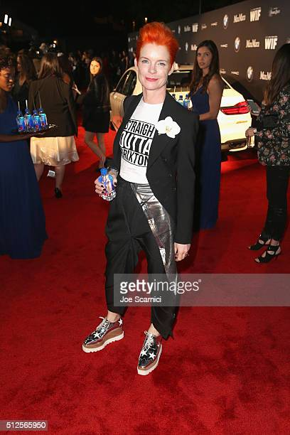 Costume designer Sandy Powell at the 9th Annual Women in Film PreOscar Cocktail Party in partnership with FIJI Water on February 26 2016 in West...