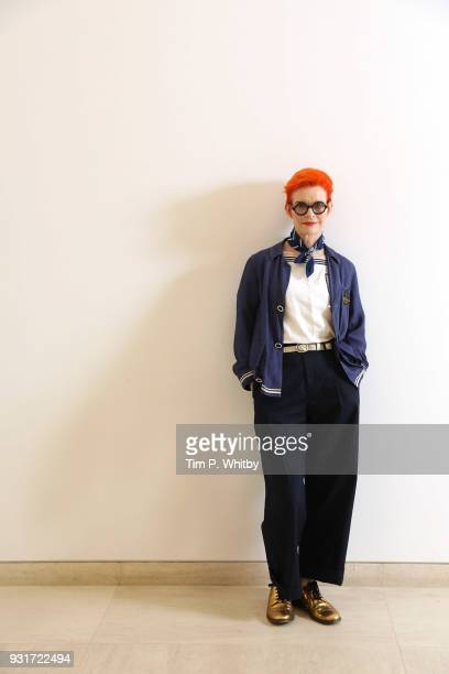 Costume designer Sandy Powell poses during a portrait session at the Museum of Islamic Art on day six of Qumra the fourth edition of the industry...